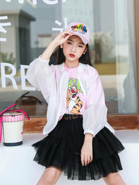玛玛米雅童装品牌2021夏季百搭粉红豹T恤套装