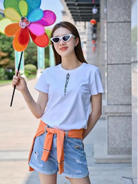 浩洋国际女装品牌2021夏季日系冰丝T恤