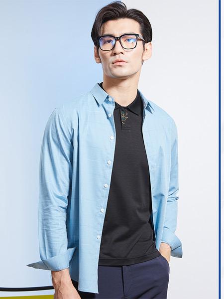 帝牌男装品牌2021夏季纯色透气衬衫
