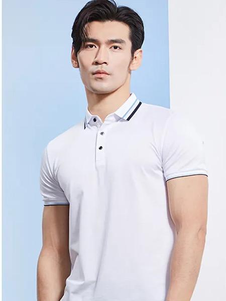 帝牌男装品牌2021夏季纯白色修身T恤