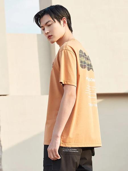 KIR男裝男裝品牌2021秋季水光質感棉柔T恤