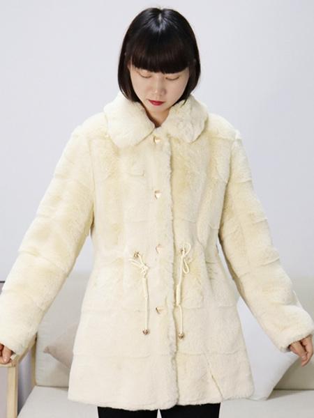 靓漫蒂女装品牌彩38平台2021秋冬羊绒衫外套