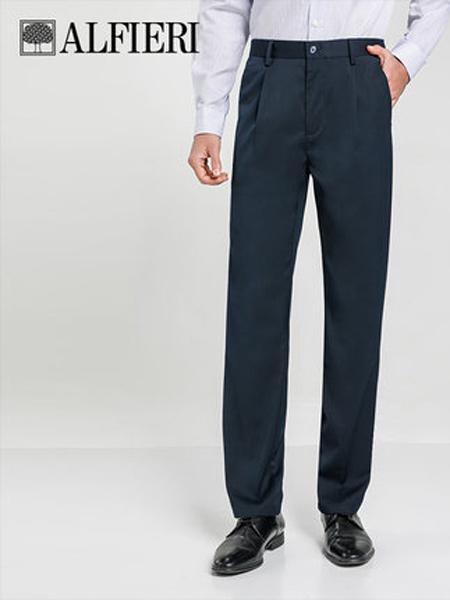 艾法利男装品牌2021春夏空调纤维面料单褶男士抗皱易打理休闲长裤中老年