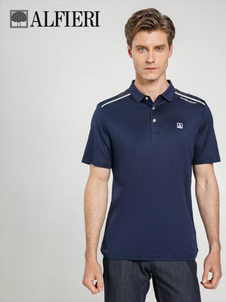 艾法利男装品牌2021春夏时尚运动珠地棉混纺轻运动风格男士短袖POLO衫