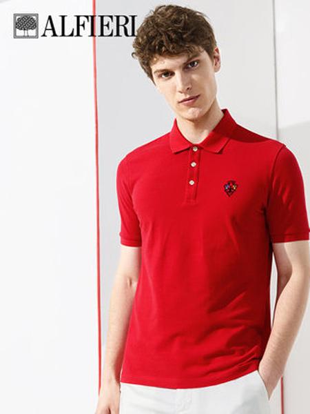 艾法利男装品牌2021春夏 polo衫短袖翻领T恤高尔夫球衫 刺绣皇冠