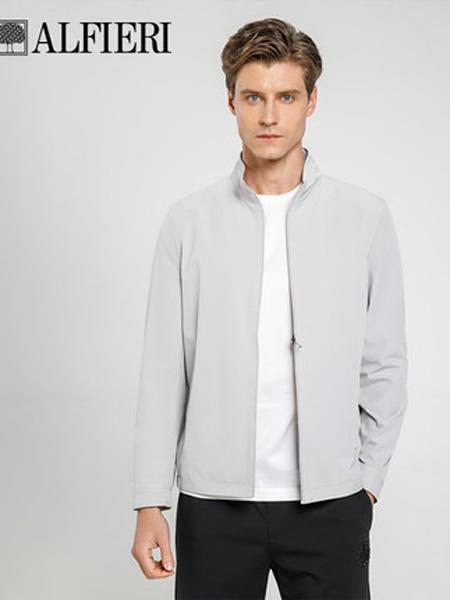 艾法利男装品牌2021春夏新绅士简约时尚立领男士夹克外套弹力