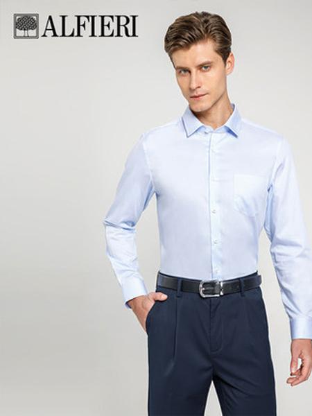 艾法利男装品牌2021春夏新品素色打底衬衣蚕丝棉混纺时尚男士长袖衬衫