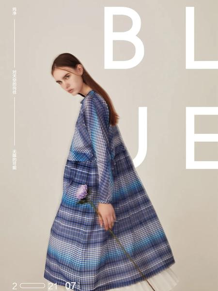 意澳女装品牌2021秋冬潮流格子纹路宽松外套