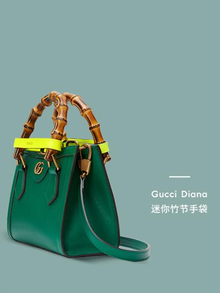 Gucci古驰箱包品牌绿色气质迷你竹节手提袋