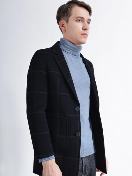 恩咖男装品牌2021秋格子纹路外套