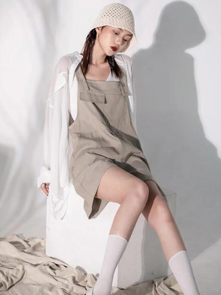 PASHOW女裝品牌2021夏季休閑百搭背帶褲套裝