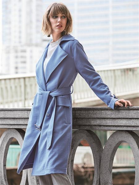 37°生活美学女装品牌2021秋冬系带显瘦风衣