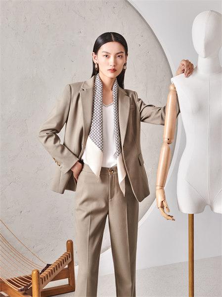 圣可尼女裝品牌2021秋季百搭小西裝套裝