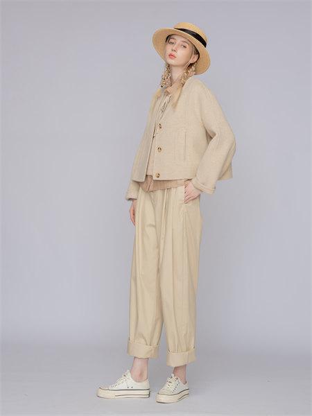 庄玛女装品牌2021秋季系带打底衬衫