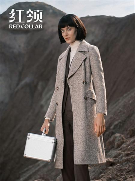 紅領女裝品牌2021秋季中長款純色純棉外套