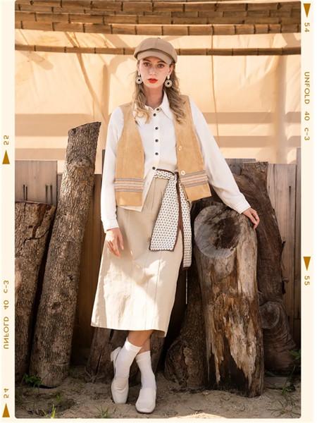 薇薇希女裝品牌2021秋季修身高腰系帶半身裙