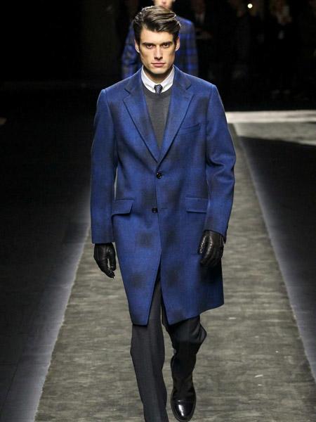 喬派尼男裝品牌2021秋季撞色翻領中長款外套