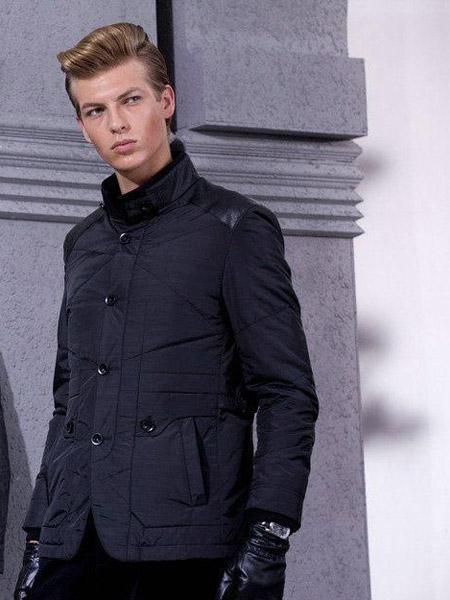 喬派尼男裝品牌2021秋季高領加絨褶皺外套