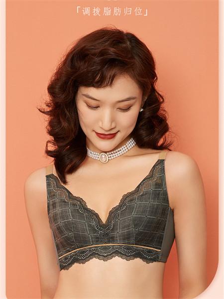 女人心内衣品牌无钢圈收副乳防下垂调整型蕾丝文胸