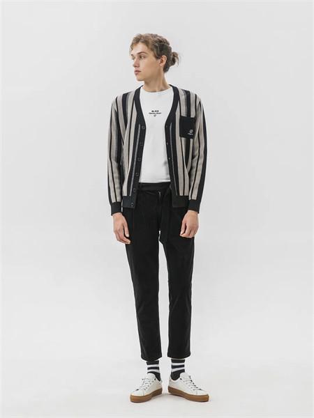 格度·佐致男装品牌2021秋季条纹针织外套