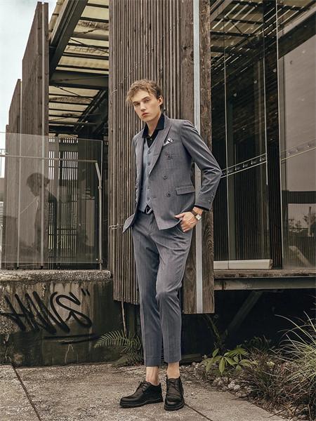 格度·佐致男装品牌2021秋季纯色时尚商务西装两件套