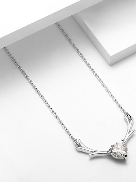 萱子饰品其他品牌一鹿有你项链女小众设计感锁骨链简约气质锆石颈链