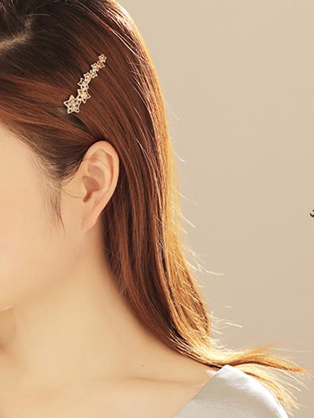 萱子饰品其他品牌少女心侧边夹刘海夹子横夹一字夹