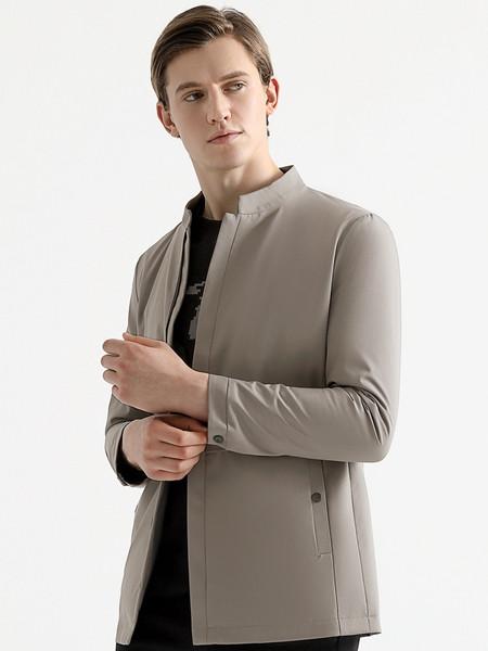 乔治邦尼男装品牌2021秋季高领修身外套