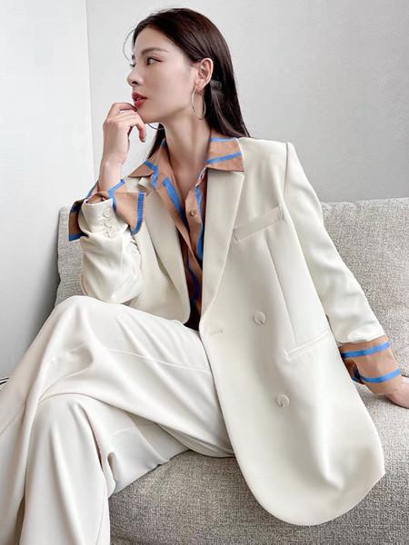 珂希莉女装品牌2021秋季宽松休闲西装两件套