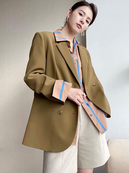 珂希莉女装品牌2021秋季时尚休闲西装外套