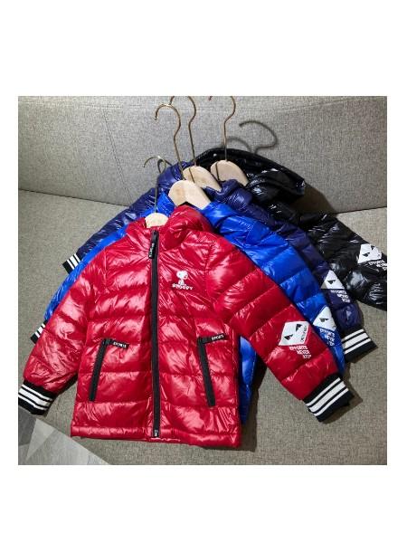 史努比童装 专柜儿童冬季连帽轻薄羽绒服保暖外套批发 童装折扣