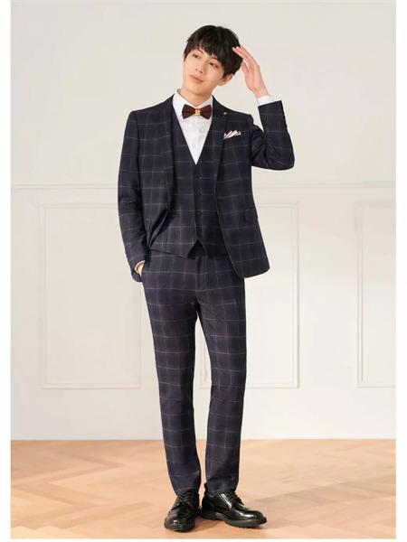 MOST男装品牌2021秋季系带格子纹路3件套