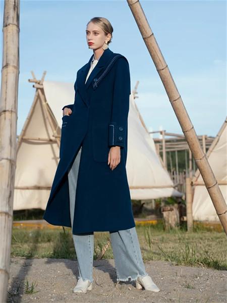 薇薇希女装品牌2021秋季棉麻长款风衣外套