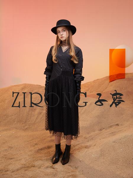 子容女装品牌2021秋冬新款纯色衬衫