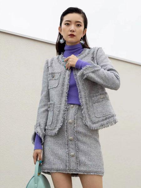 右立方女装品牌2021秋冬流苏小香风套装裙