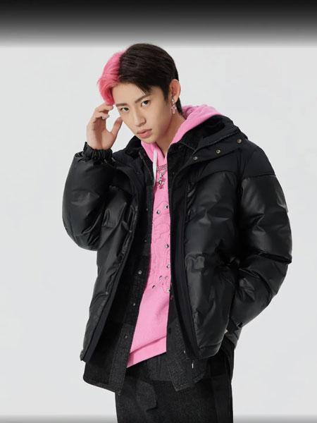 Cabbeen卡宾男装品牌2021秋冬黑色韩版耐脏外套