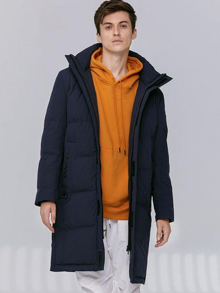乔治邦尼男装品牌2021秋冬中长款简约连帽外套